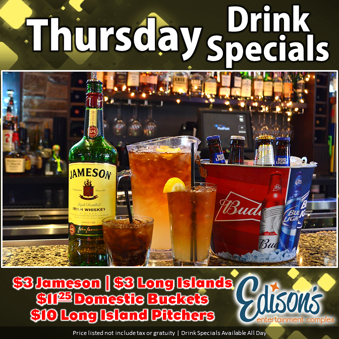 thursday drink specials
