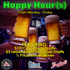 happy hour drink specials