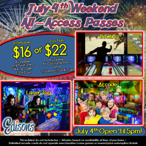 july 4th weekend specials