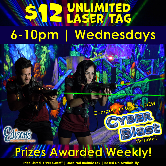 $12 unlimited laser tag