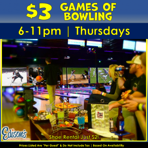 $3 games of bowling