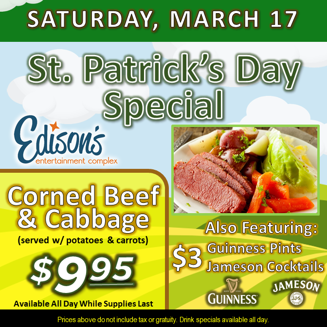 corned beef and cabbage special