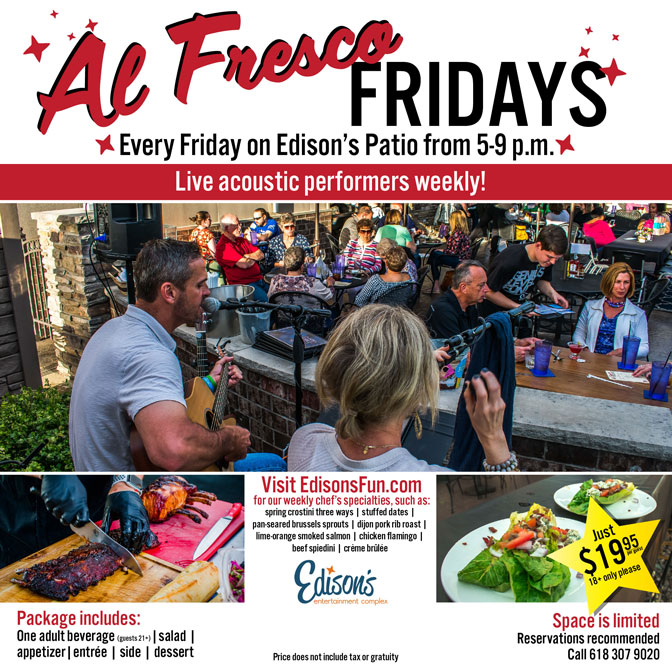 edisons entertainment al fresco friday