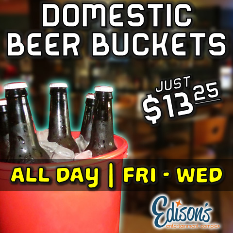 edisons domestic beer buckets
