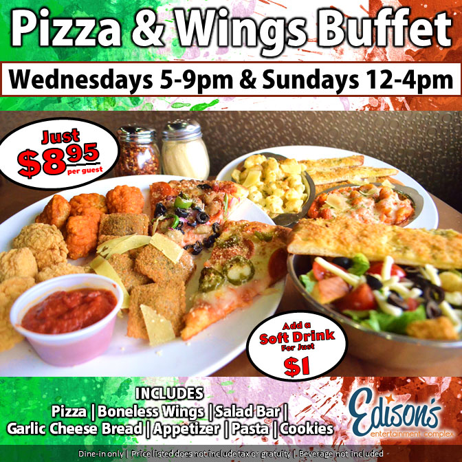 edisons entertainment pizza and wings